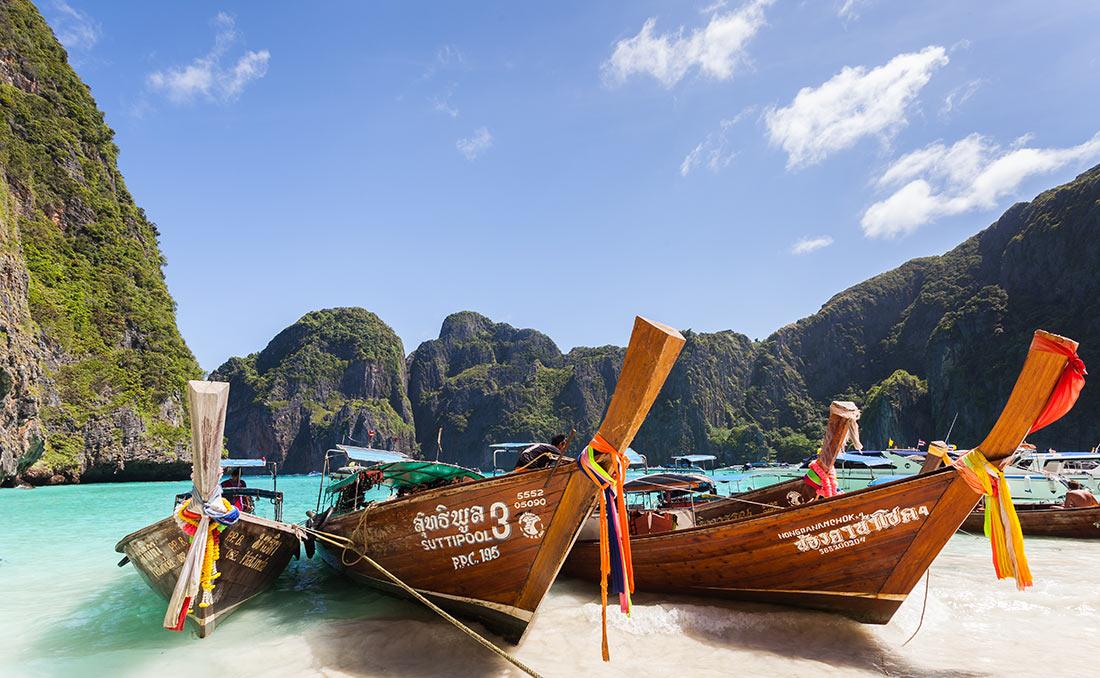 Longtail boats, Maya Bay