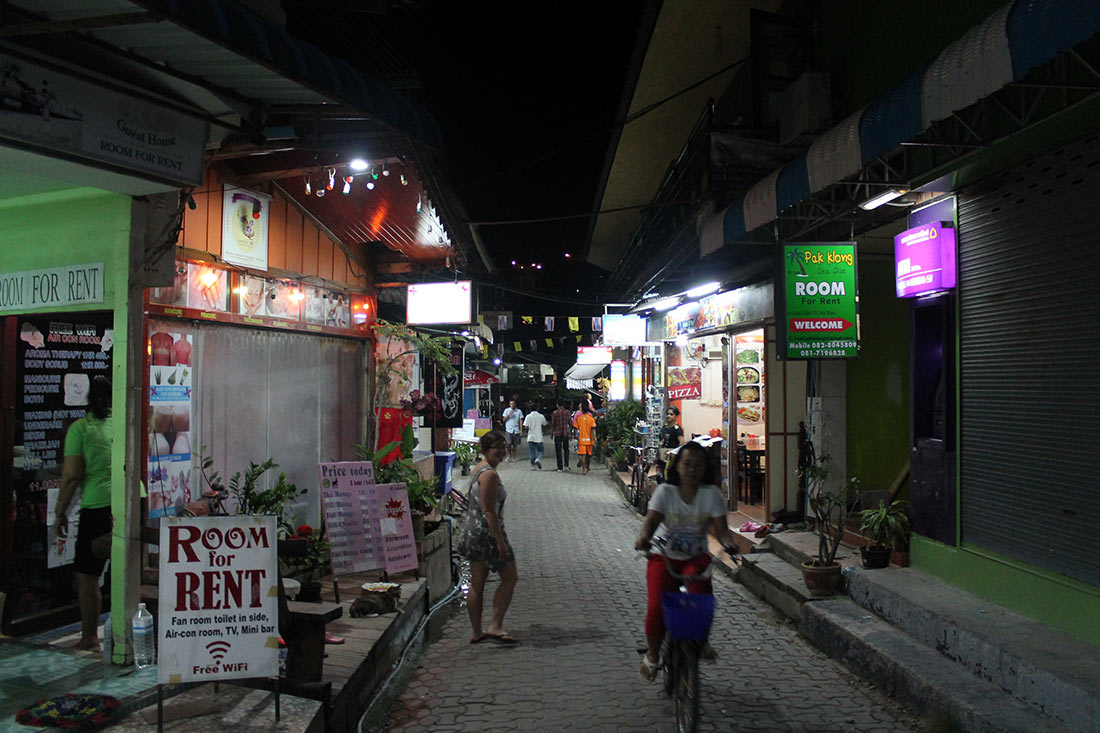 Street on one of the islands on Phi Phi