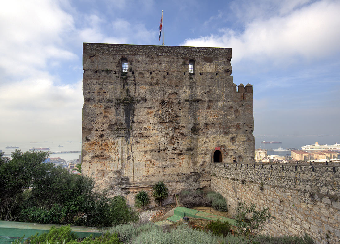 Moorish castle in Gibraltar
