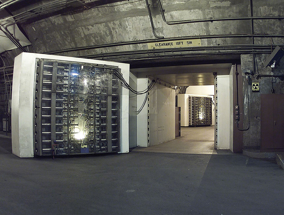 underground operations center for the NORAD in Cheyenne Mountain
