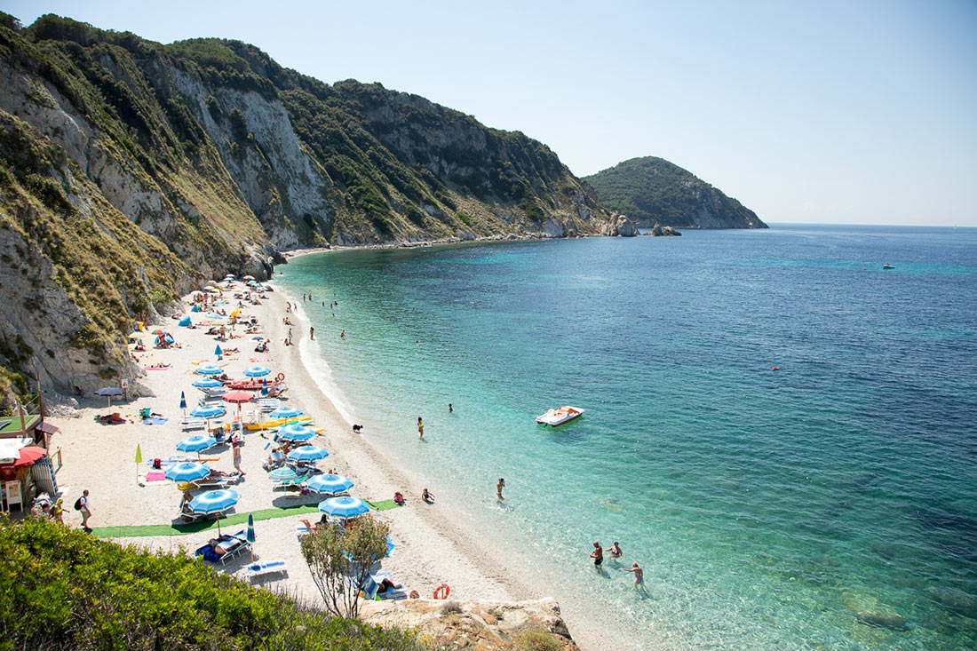 Samson beach, the Island of Elba