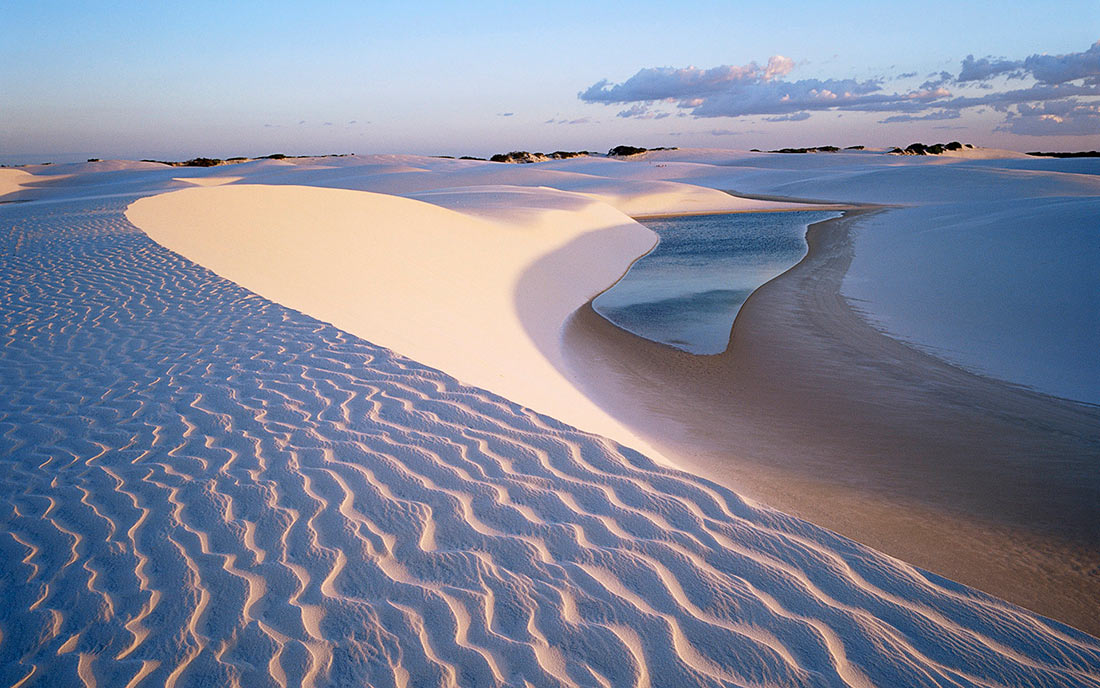 Sand dunes in Lençóis Maranhenses National Park