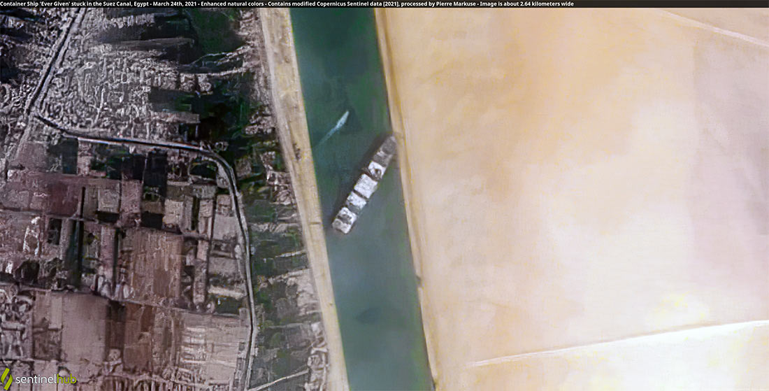 MV Ever Given aground at Suez Canal