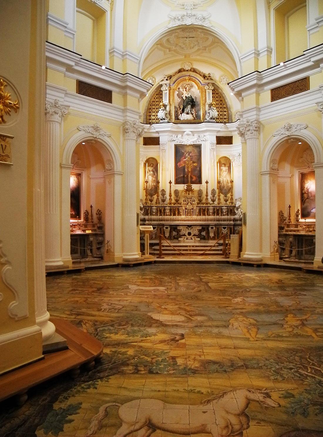 Interior of the church of San Michele, Anacapri